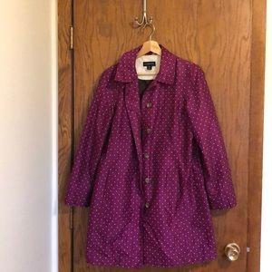 Land's End Women's Rain Coat.  Size 6-8.